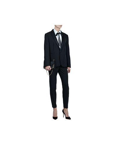 Черный шерстяной костюм Valentino Red