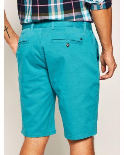 Niebieskie szorty materiałowe Tommy Jeans