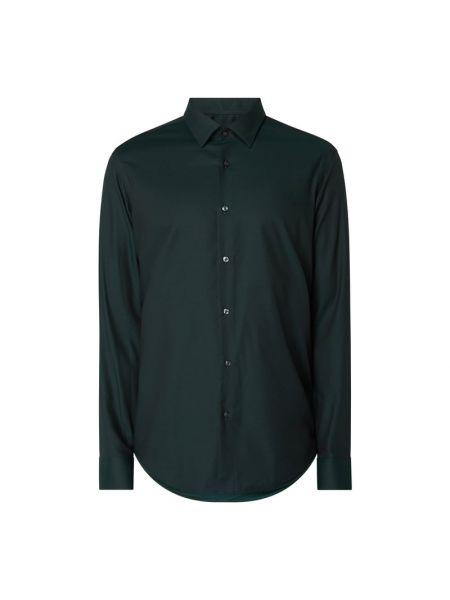 Bawełna zielony koszula z mankietami z długimi rękawami Boss