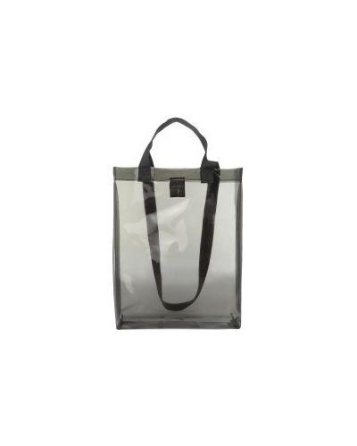 Сумка шоппер прозрачная черная Calzetti