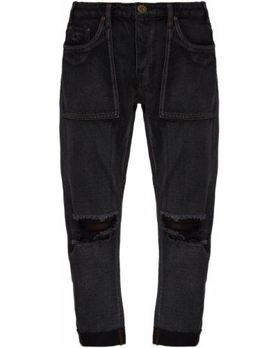 Хлопковые черные джинсы One Teaspoon