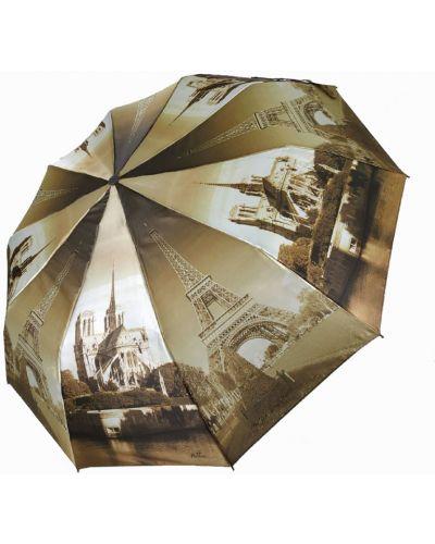 Складной зонт - коричневый Flagman