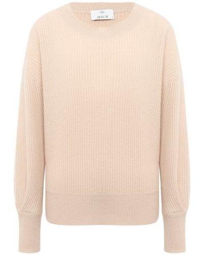 Свободные бежевый кашемировый свитер свободного кроя Allude