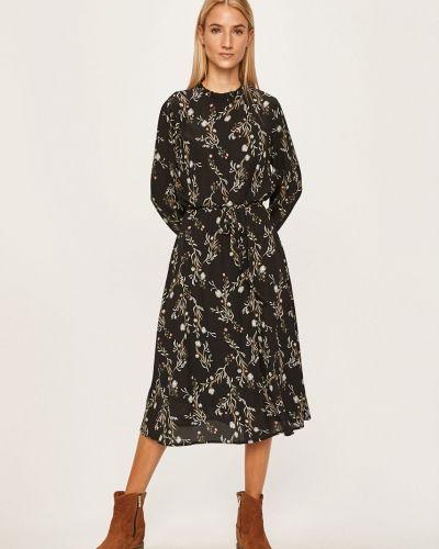 Черное расклешенное платье миди с вырезом Jacqueline De Yong