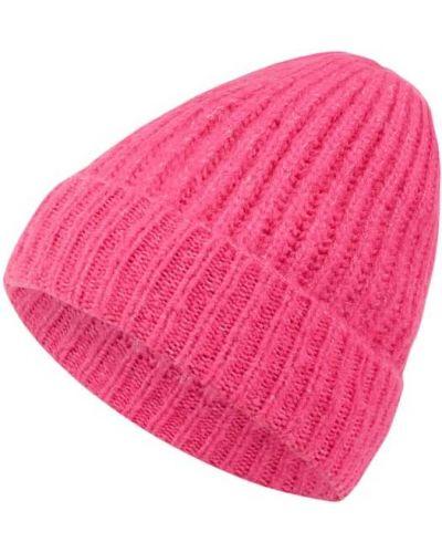 Prążkowana różowa czapka K-ro