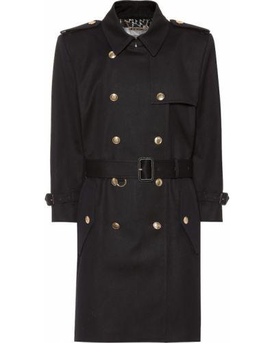 Синее пальто Givenchy