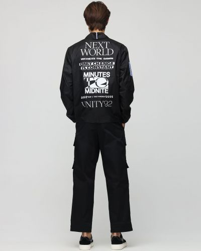 Czarna koszula z nylonu Mcq Alexander Mcqueen