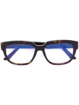 Очки хаки прямоугольные Marni Eyewear