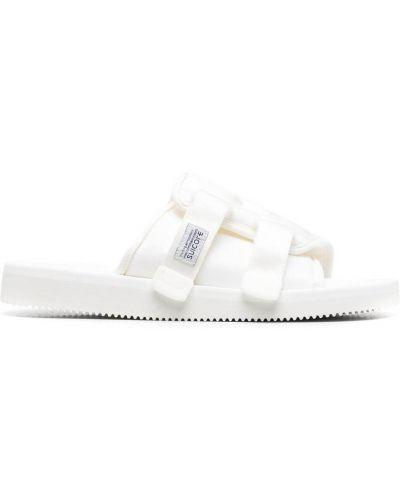 Białe sandały peep toe Suicoke