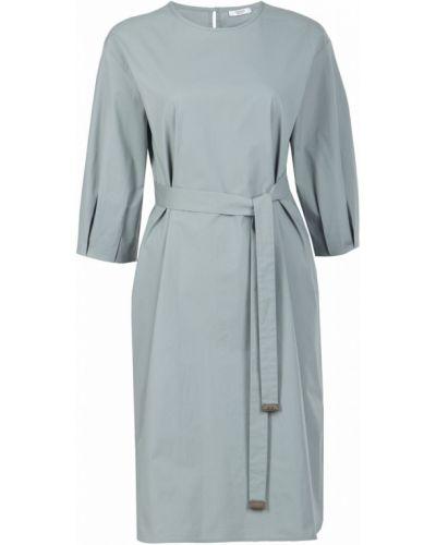 Платье с поясом на пуговицах с разрезами по бокам Peserico