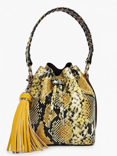 Кожаная сумка из искусственной кожи желтый Aldo