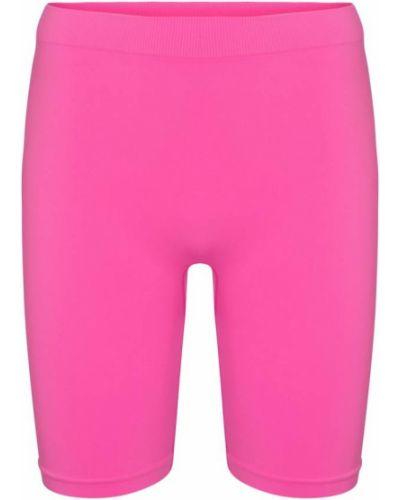 Розовые трикотажные короткие шорты стрейч Helmut Lang