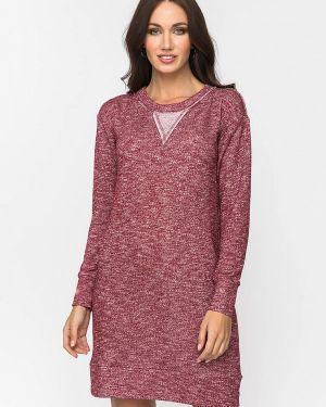Платье бордовый прямое Gloss