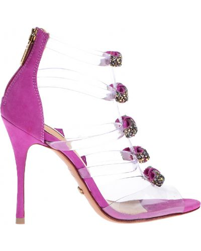 Фиолетовые босоножки на каблуке Schutz