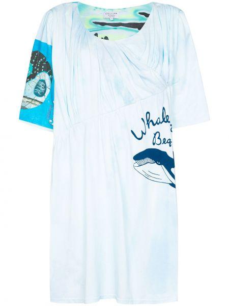 Bawełna bawełna sukienka okrągły okrągły dekolt Collina Strada