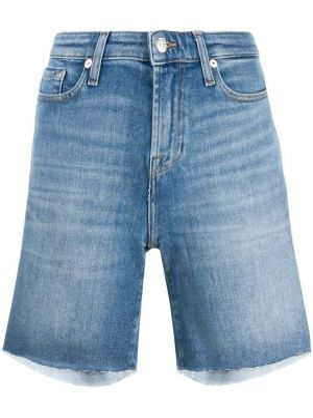 Джинсовые шорты с отворотами с карманами 7 For All Mankind