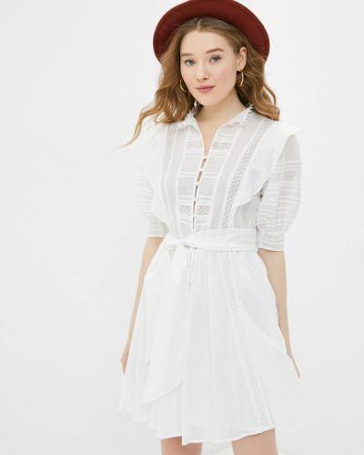 Прямое белое платье А-силуэта Silvian Heach