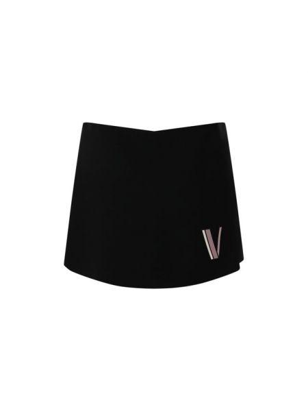 Короткие шорты черные шерстяные Valentino