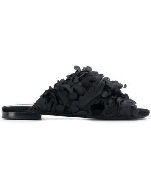 Черные мюли на каблуке Maison Ernest