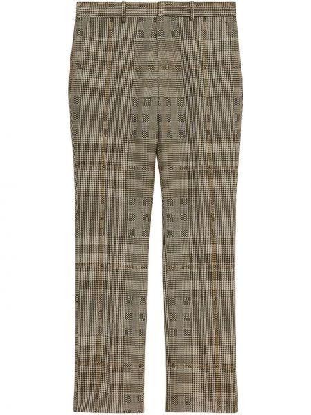 Spodni brązowy wełniany spodnie z kieszeniami Burberry