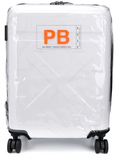 Белый дорожная сумка круглый на молнии Off-white