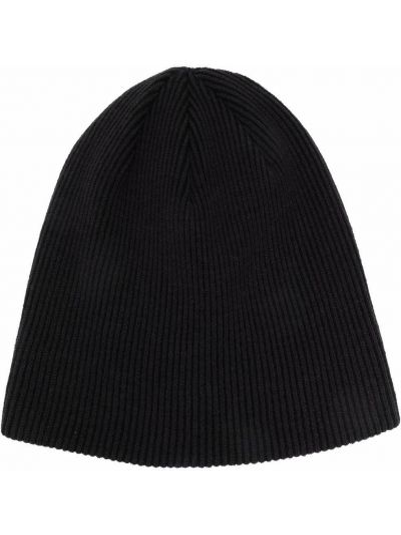 Шерстяная шапка бини - черная Stone Island Shadow Project