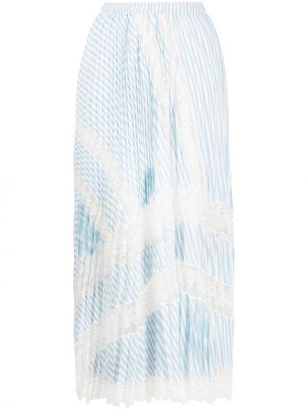 Хлопковая белая плиссированная юбка миди Ermanno Scervino