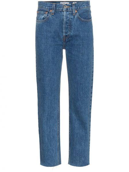 Прямые джинсы с завышенной талией - синие Re/done