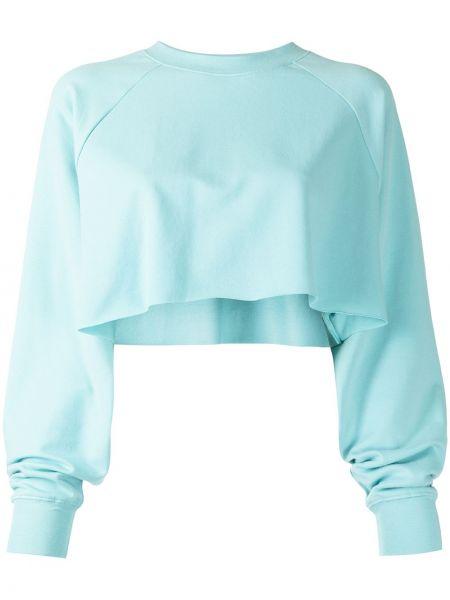 Niebieska bluza z długimi rękawami Alo Yoga