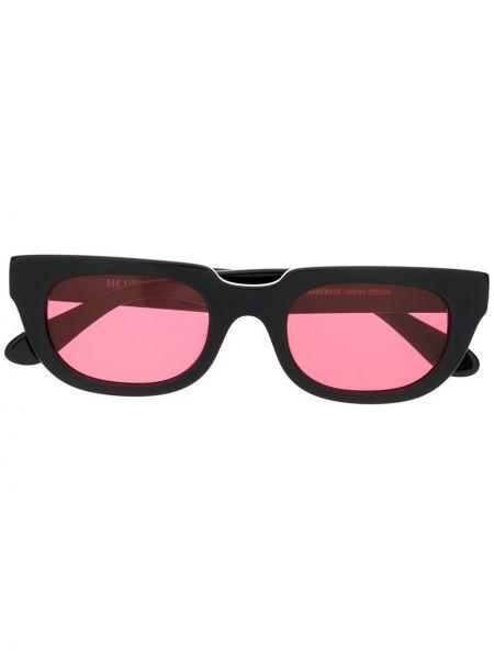 Прямые муслиновые черные солнцезащитные очки прямоугольные Han Kjøbenhavn