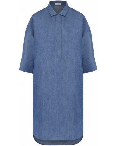 Платье рубашка на пуговицах с отложным воротником Van Laack