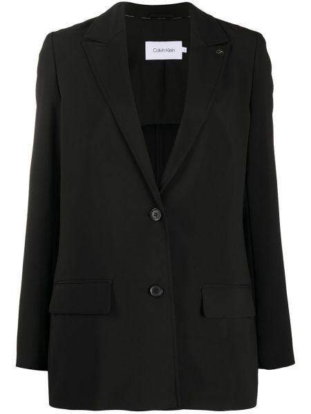 Однобортный черный пиджак с карманами Calvin Klein
