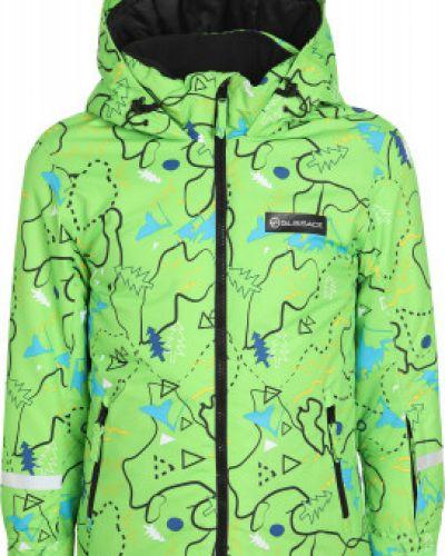 Прямая зеленая утепленная куртка Glissade