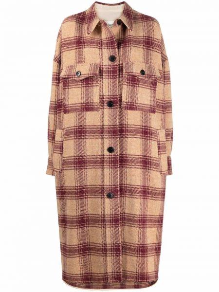 Коричневое пальто с воротником Isabel Marant étoile