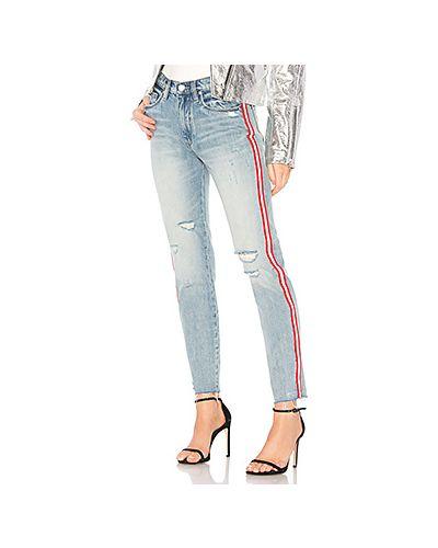 Рваные джинсы с эффектом потертости с лампасами [blanknyc]