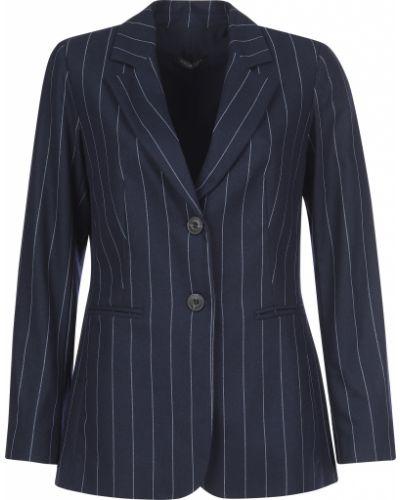 Пиджак шерстяной синий Twin-set