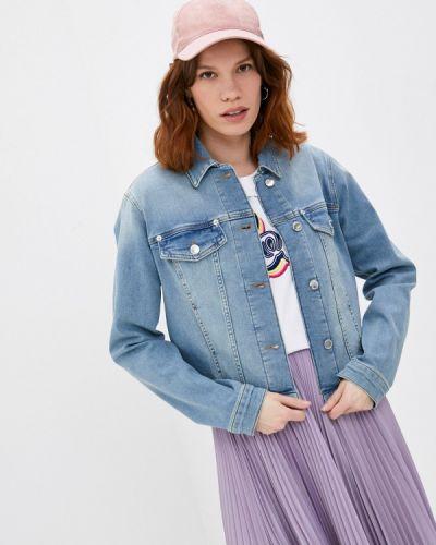 Джинсовая куртка - голубая Love Moschino