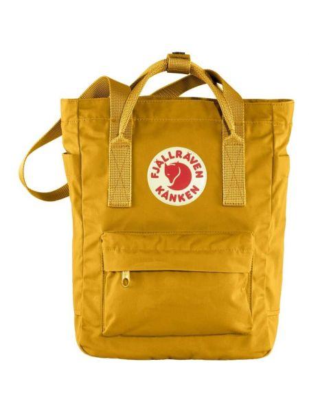 Żółty plecak z printem Fjällräven