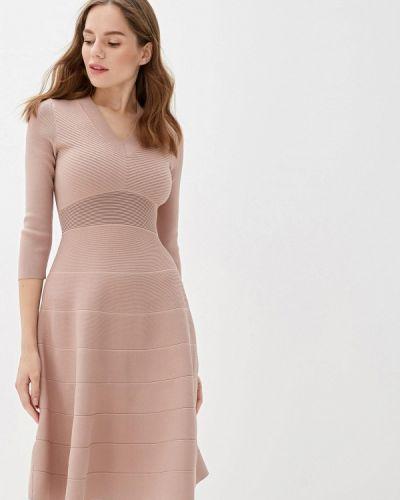 Платье розовое прямое Lusio