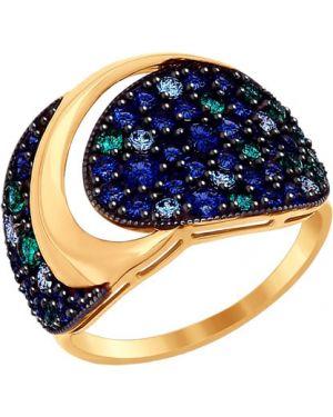 Кольцо из золота черный Sokolov
