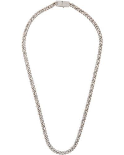 Тонкое ожерелье серебряное Tom Wood
