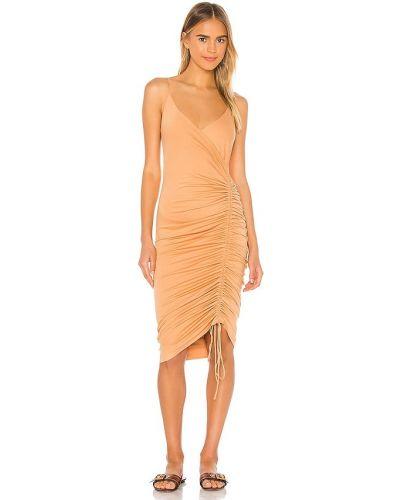 Трикотажное платье миди винтажное с подкладкой Privacy Please
