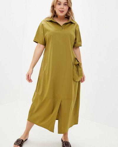 Повседневное платье зеленый хаки Berkline