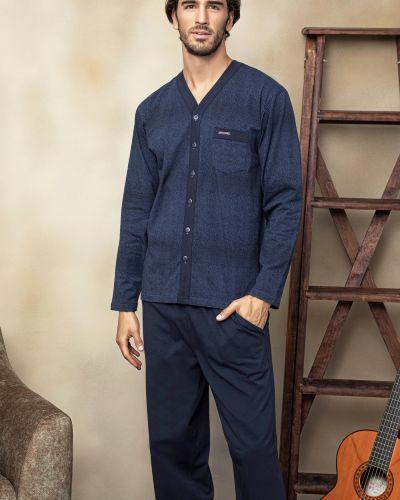 Хлопковая пижама с брюками с карманами в полоску Rozetka