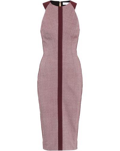 Платье миди из вискозы шерстяное Victoria Beckham