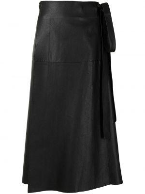 Кожаная юбка миди - черная Proenza Schouler