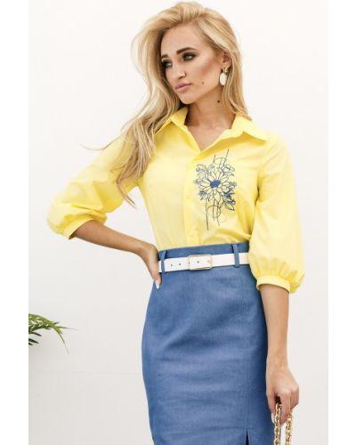 Блузка с вышивкой Leleya