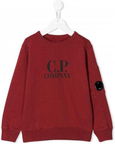 Толстовка красная Cp Company Kids