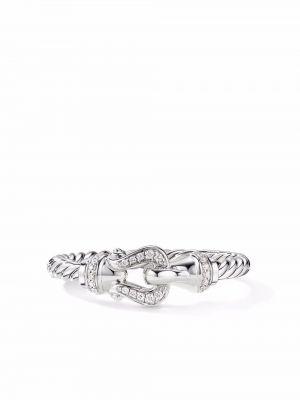 Biały złoty pierścionek David Yurman