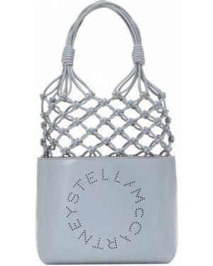 Кожаная сумка сумка-тоут с логотипом Stella Mccartney